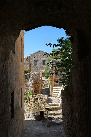 The citadel inside the mythical castle of Monemvasia, in Greece Stock fotó