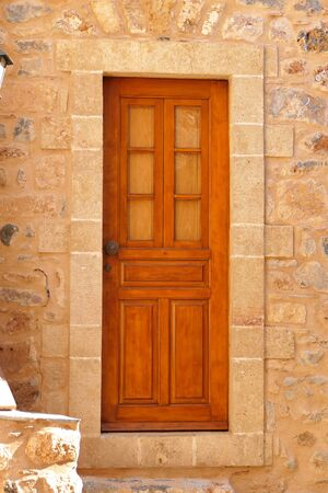 Detail of a door inside the mythical castle of Monemvasia, in Greece Stock fotó