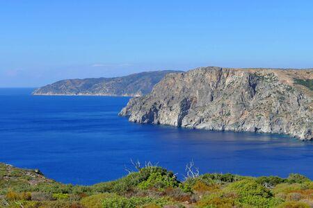 Beautiful scenery of the western coast of Kythira in the Aegean sea, Greece Stock fotó