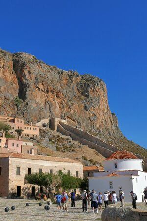 The stars to go from the citadel to the upper fortress of Monemvasia, in Greece Sajtókép