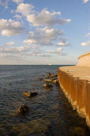Chicago Lake Path near the Shedd Aquarium