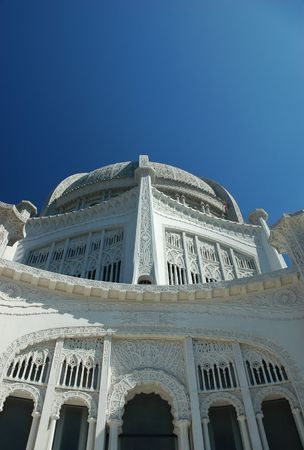 the house of worship: North American Bahai House of Worship near Chicago, Illinois Stock Photo