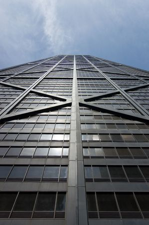 The South Facade of the Hancock Building in Chicago, Illinois Stock Photo