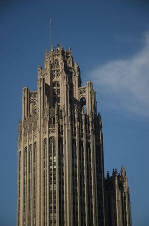 tribune: Tribune Tower in Chicago, Illinois Stock Photo