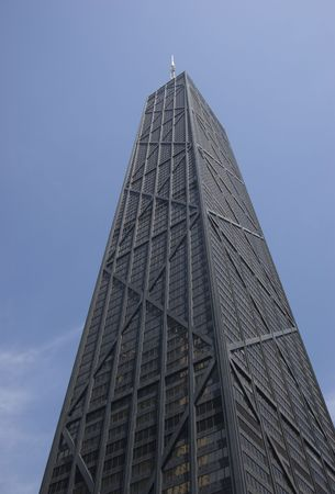 Southwest facades of the Hancock Building in Chicago, Illinois