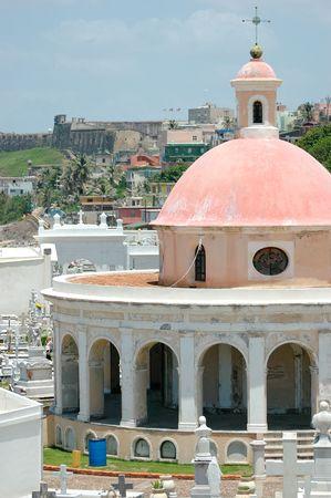 Cemetery at Castillo el Morro in Old San Juan, Puerto Rico