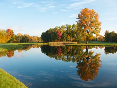 Autumn colors in Northern Michigan Stock Photo