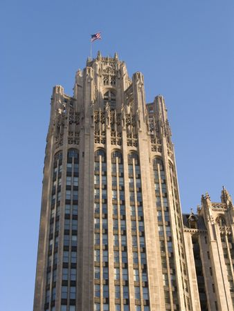 Tribune Tower in Chicago, Illinois Stock Photo