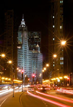Michigan Avenue at Night