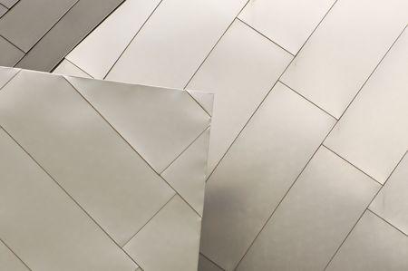 titanium: Titanium Roof Detail Stock Photo