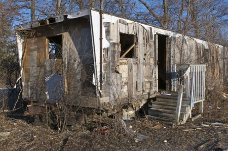 Abandoned Trailer Stock Photo