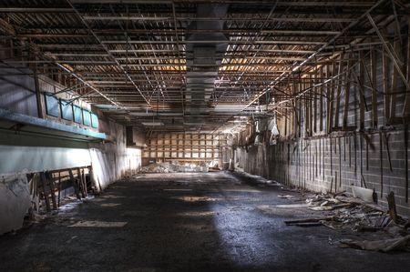 Abandonado la tienda Foto de archivo