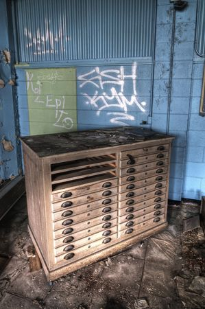 abandoned warehouse: Old Flat File
