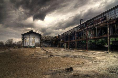 industriale: Edifici industriali abbandonati