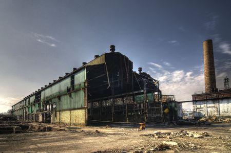 Nave industrial abandonada Foto de archivo
