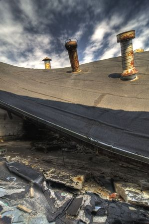 Collapsed Roof Stock Photo - 4751013