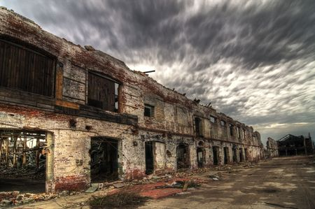 decayed: Decayed Brick Facade