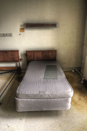 dirty room: Old Hospital Bed