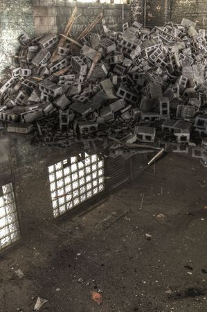 Concrete Block and Reflection photo