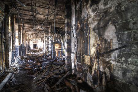 Burned Corridor Stock Photo - 4828685