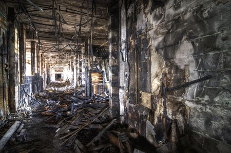 abandoned factory: Burned Corridor