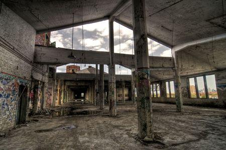 in disrepair: Open Air di Costruzione Archivio Fotografico