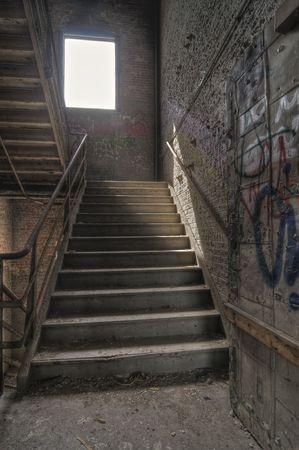 Con escalera de Graffiti