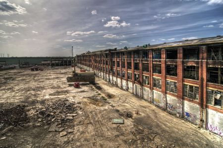 abandoned warehouse: Demolished Building