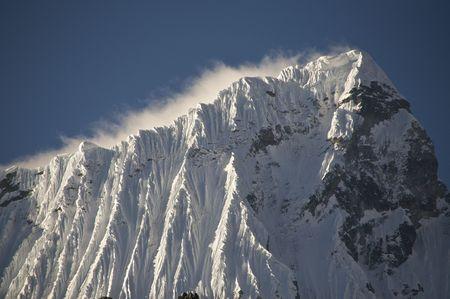 Snow Capped Andes Peak in Peru