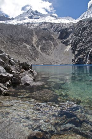 Glacial Lake in the Andes