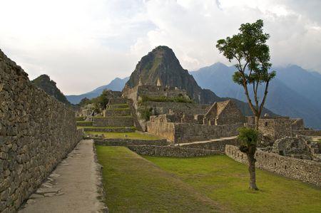 Machu Picchu Plaza Stock Photo