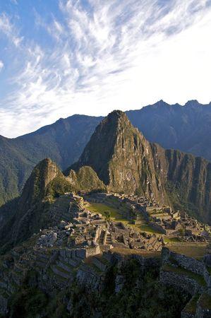 Morning at Machu Picchu