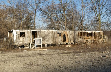 Abandoned Mobile Home Stock Photo - 6291906