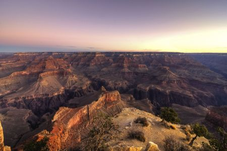 the height of a rim: Grand Canyon View - HDR Stock Photo