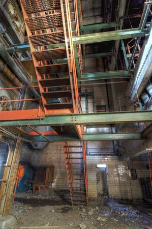 Steel Stair in an Abandoned Building Stock Photo - 6291903