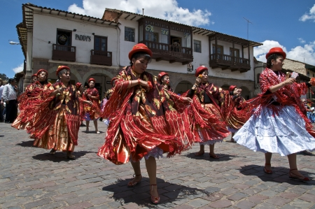 cusco: Women in Red Editorial