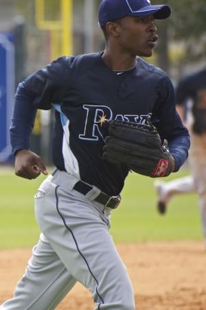Sarasota, FLORIDA - březen 3: BJ Upton z Tampa Bay Rays hraje na den zahájení jarní přípravy proti Baltimore Orioles 3. března 2010 v Sarasota na Floridě.