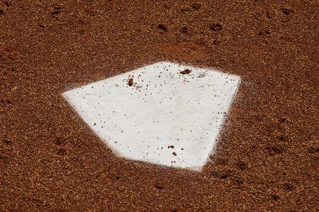 Home Plate at a Bullpen of  a Baseball Stadium