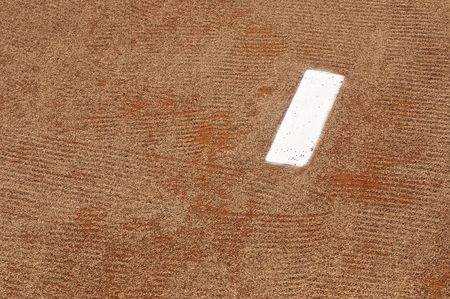 dirt: A Pitchers Mound Prior to the Start of a Baseball Game