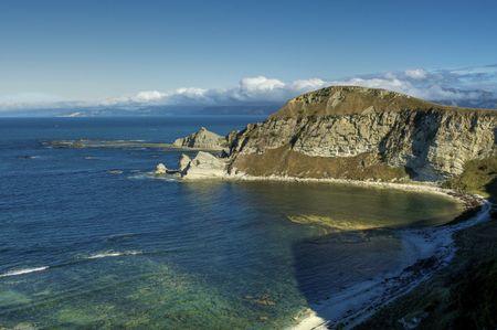 View of the Beautiful Coastline on the South Island near Kaikoura, New Zealand