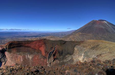 Monte Ngaurahoe en la zona volc�nica cerca de Taupo, Nueva Zelanda