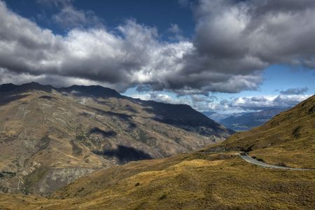 The Mountains near Queenstown, New Zealand Stock Photo