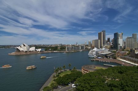 vue d ensemble: Le port de Sydney Skyline