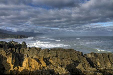 The Pancake Rocks at Punakaiki, New Zealand