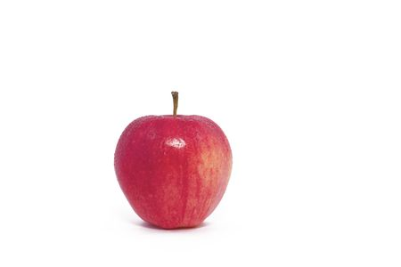 A Single Red Apple on a White Background