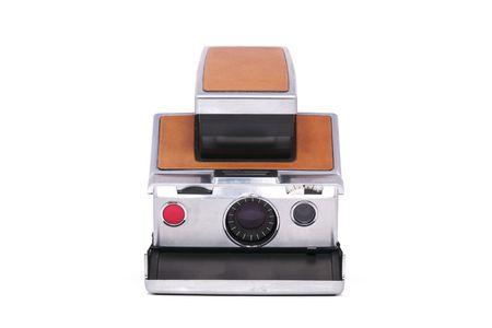 Vintage Folding Instant Camera Isolated on a White Background Stock Photo - 8193705