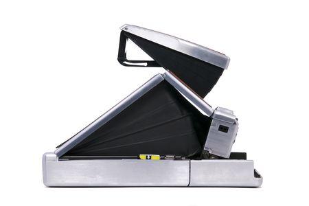 Vintage Folding Instant Camera Isolated on a White Background Stock Photo - 8193754