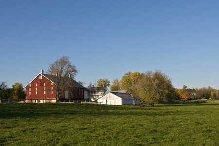 A collection of farm buildings
