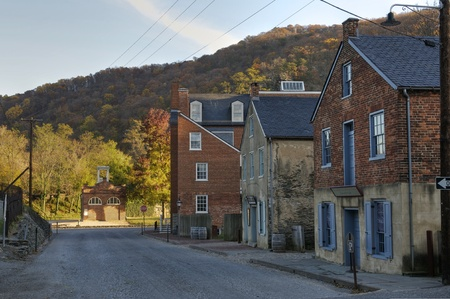 Potomac Street in Harpers Ferry, West Virginia Stock Photo - 11128008