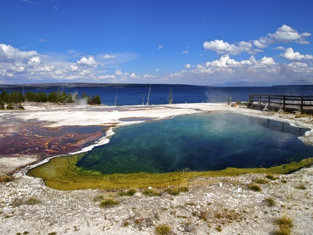 Abyss Pool at West Thumb Geyser Basin, Yellowstone National Park, Wyoming Stock Photo - 11221440